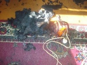 Электросветильник стал причиной возникновения пожара
